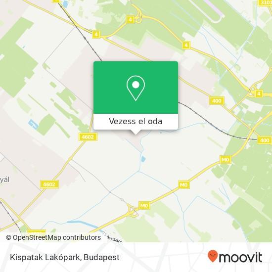 Kispatak Lakópark térkép