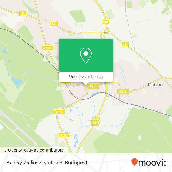 Bajcsy-Zsilinszky utca 3 térkép