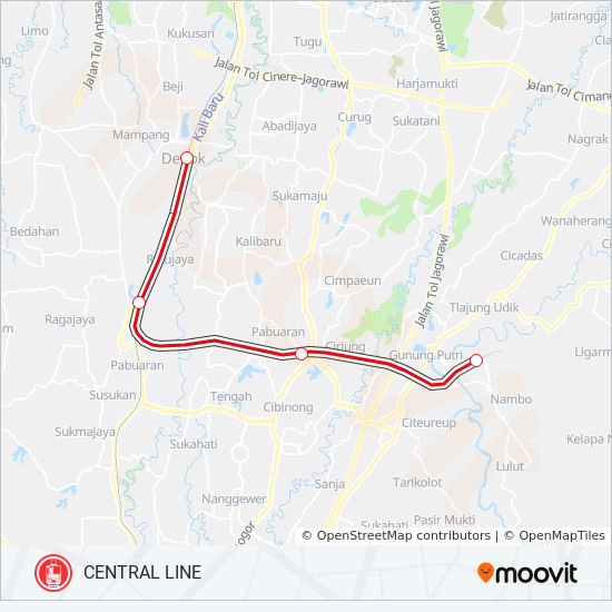 Central Line Route Time Schedules Stops Maps Jakarta Kota