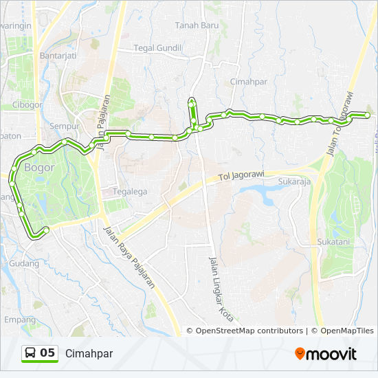 05 Route: Time Schedules, Stops & Maps - Ramayana