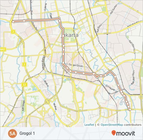 Rute 5a Jadwal Pemberhentian Peta Grogol