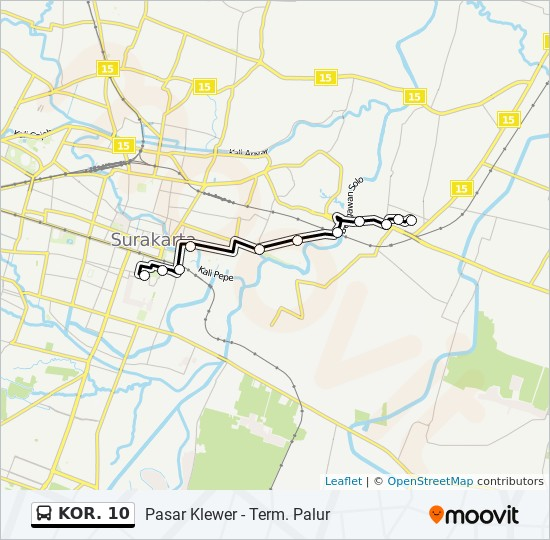 KOR. 10 Route: Time Schedules, Stops & Maps - Palur
