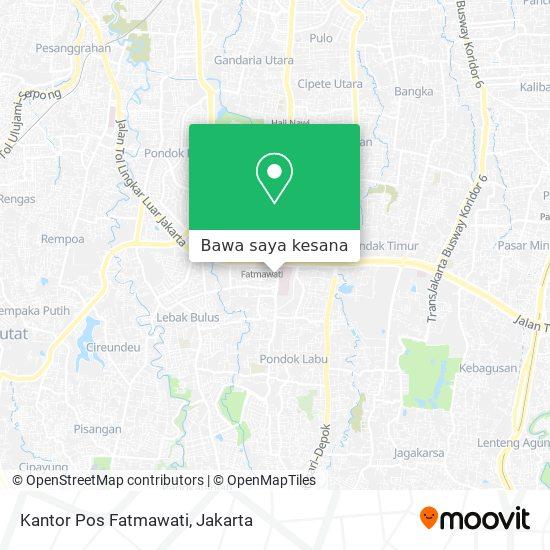 Cara Ke Kantor Pos Fatmawati Di Jakarta Selatan Menggunakan Bis Atau Mrt Moovit