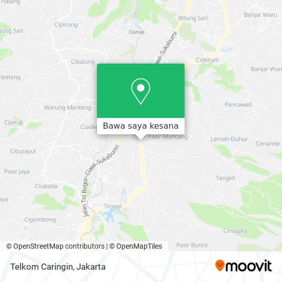 Peta Telkom Caringin