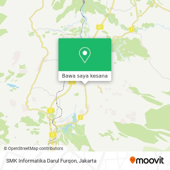 Peta SMK Informatika Darul Furqon