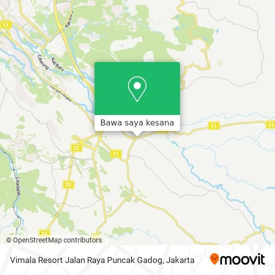 Peta Vimala Resort Jalan Raya Puncak Gadog