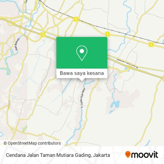 Peta Cendana Jalan Taman Mutiara Gading