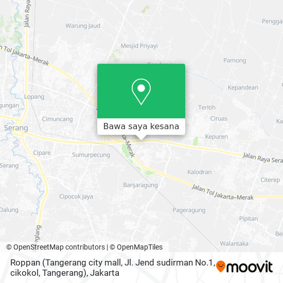 Peta Roppan (Tangerang city mall, Jl. Jend sudirman No.1, cikokol, Tangerang)