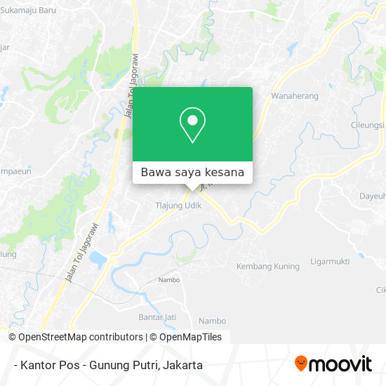 Cara Ke Kantor Pos Gunung Putri Di Bogor Menggunakan Bis Atau Kereta Moovit
