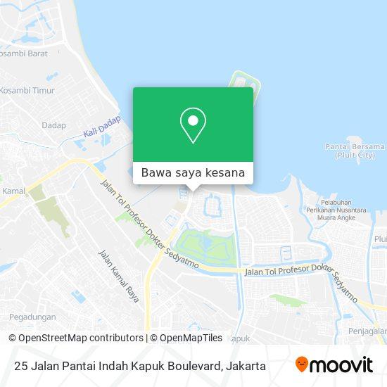 Peta 25 Jalan Pantai Indah Kapuk Boulevard