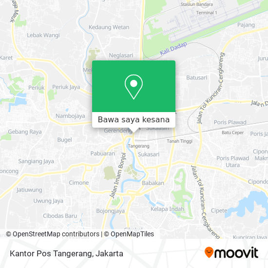 Cara Ke Kantor Pos Tangerang Di Kota Tangerang Menggunakan Bis Atau Kereta Moovit