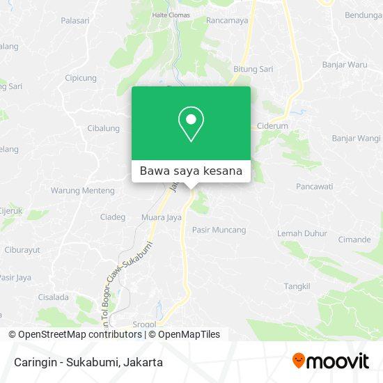 Peta Caringin - Sukabumi