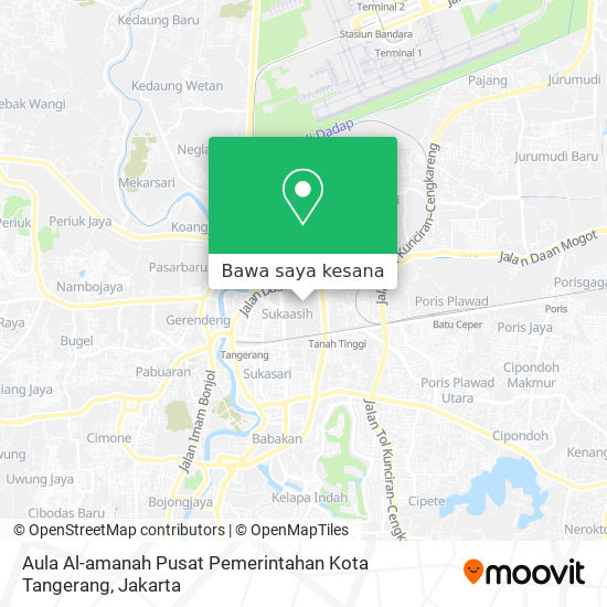 Peta Aula Al-amanah Pusat Pemerintahan Kota Tangerang