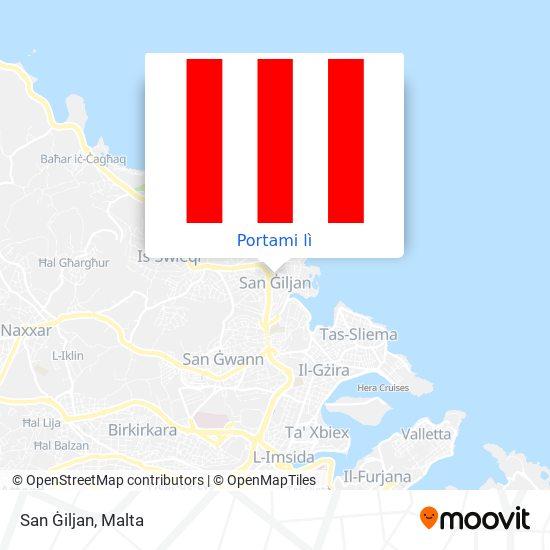Mappa San Ġiljan