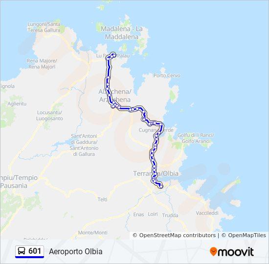 601 Route Time Schedules Stops Maps Aeroporto Olbia