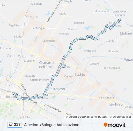 Linie 237 Fahrplane Haltestellen Karten Alberino Bologna