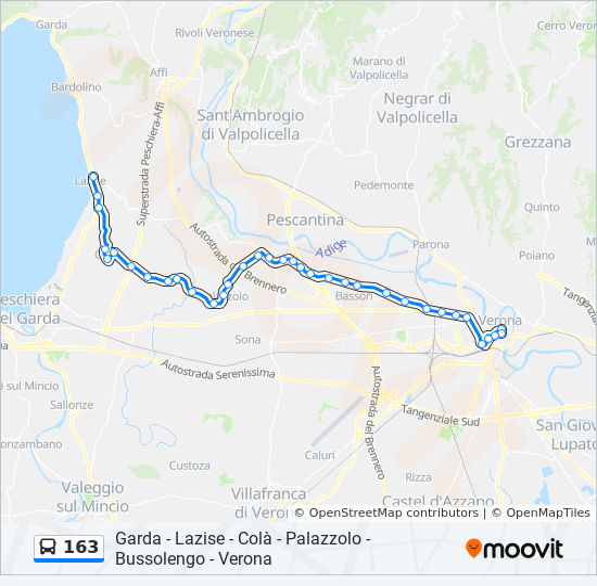 Karte Gardasee Lazise.Linie 163 Fahrpläne Haltestelle Karten Verona Piazza Brà