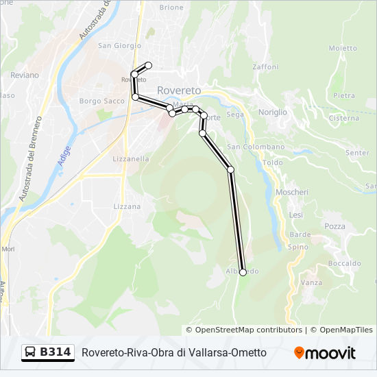 Ometto.B314 Route Time Schedules Stops Maps Ometto
