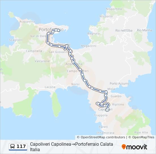Linea 117 Horarios Mapas Y Paradas Porto Azzurro Largo