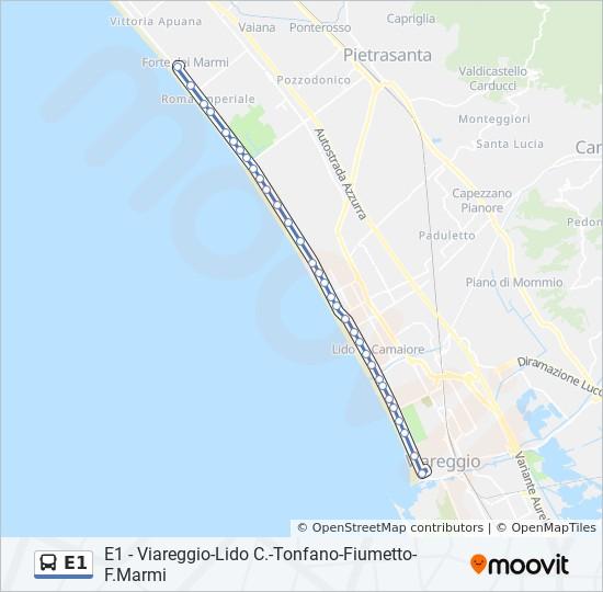 E1 Route Time Schedules Stops Maps P Za D Azeglio Nord