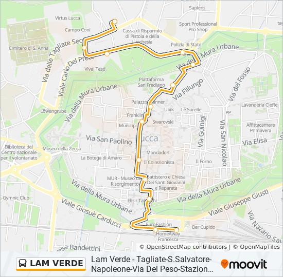 LAM VERDE Route: Time Schedules, Stops & Maps - Tagliate