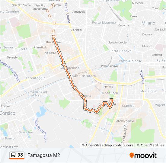 Ligne 98: Horaires, plans & stations
