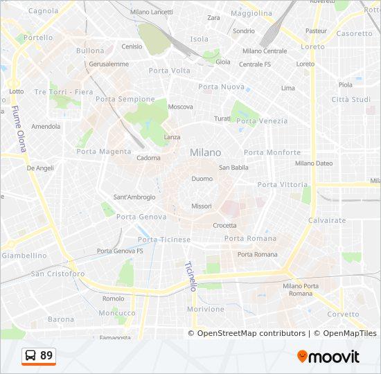 Capolinea Novate Milanese.Linea 89 Orari Fermate E Mappe Affori Fn M3