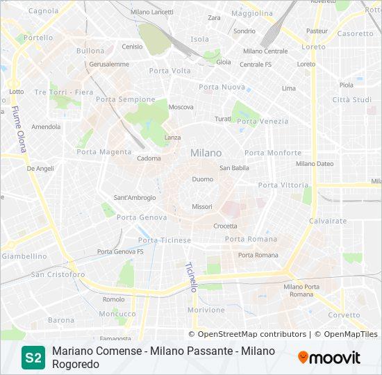 Marshrut S2 Raspisanie Shema I Ostanovki Milano Rogoredo
