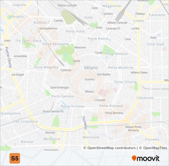 S5 train Line Map