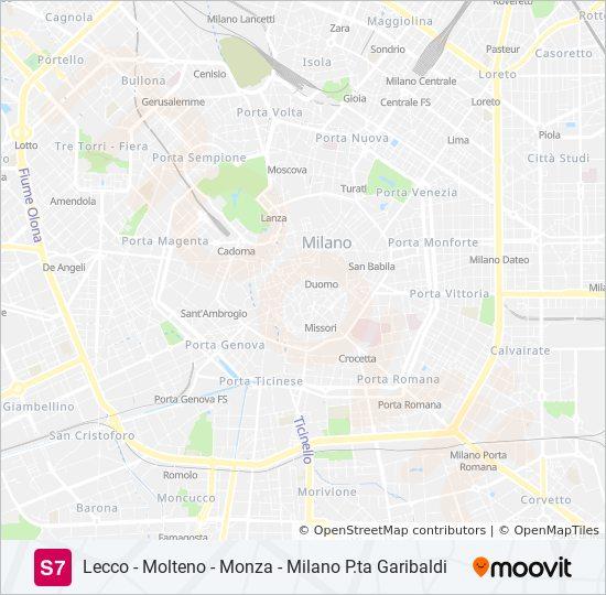 S7 Route Time Schedules Stops Maps Milano P Ta Garibaldi