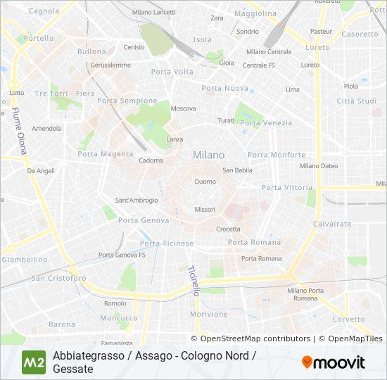 M2 Route Time Schedules Stops Maps Abbiategrasso Assago