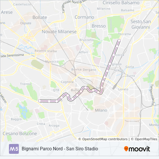M5 Route Time Schedules Stops Maps Bignami Parco Nord