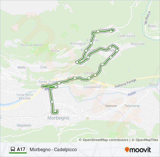 Rota Da Linha A17 Horarios Estacoes E Mapas Cadelpicco