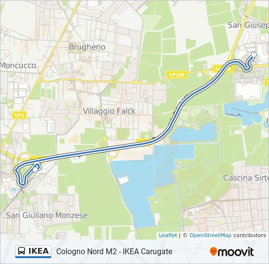 Cartina Mondo Ikea.Linea Ikea Orari Fermate E Mappe Ikea Carugate