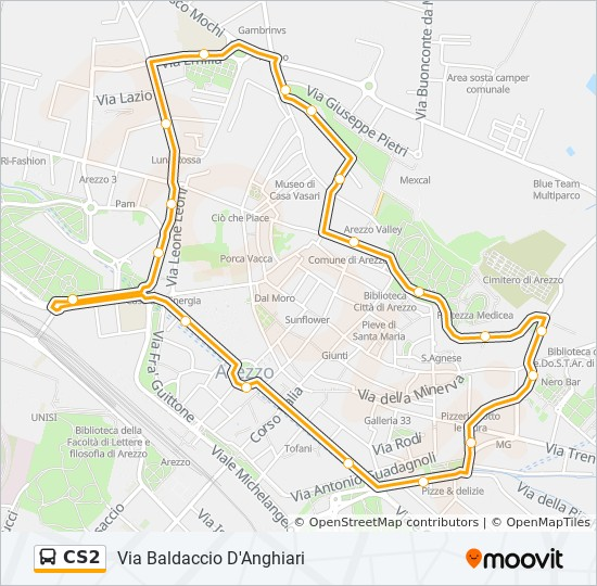 Anghiari Italy Map.Cs2 Route Time Schedules Stops Maps Via Baldaccio D Anghiari