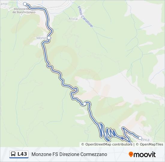 Linea L43 Horarios Mapas Y Paradas Vinca