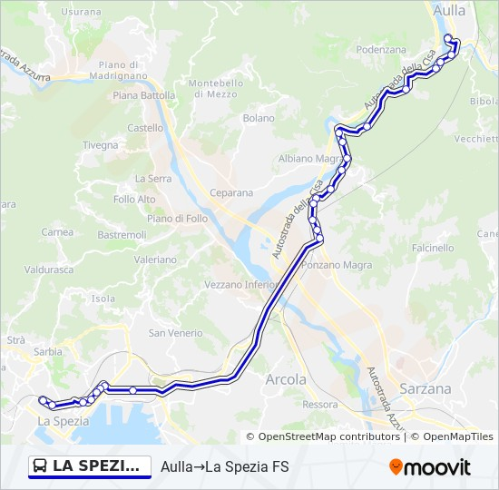 La Spezia Fs Route Time Schedules Stops Maps Piazza