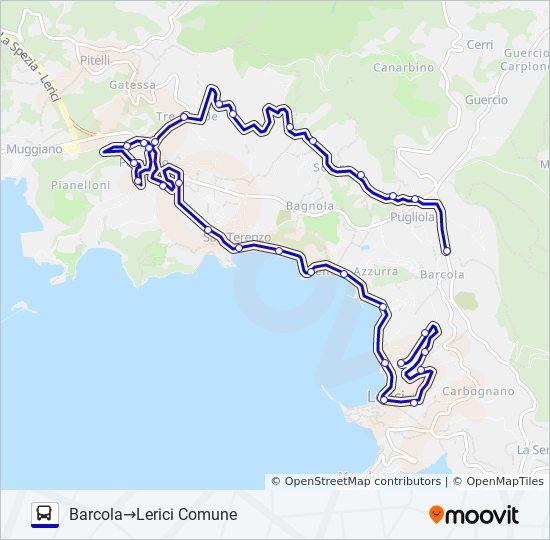 Linea LERICI COMUNE: orari, fermate e mappe