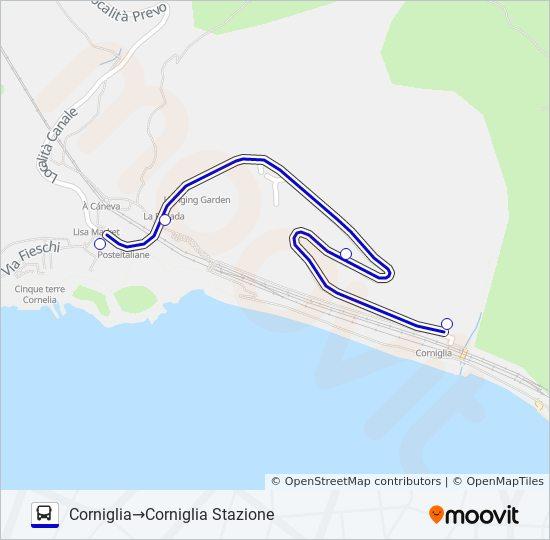 Corniglia Italy Map.Corniglia Stazione Route Time Schedules Stops Maps Corniglia