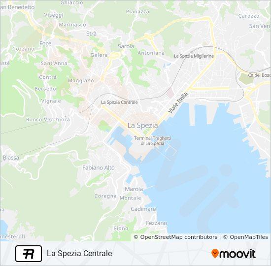 R Route Time Schedules Stops Maps La Spezia Centrale