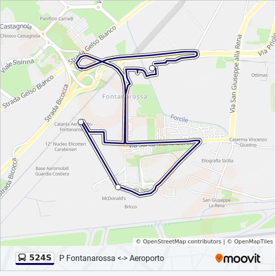 524s Route Time Schedules Stops Amp Maps Parcheggio Amt