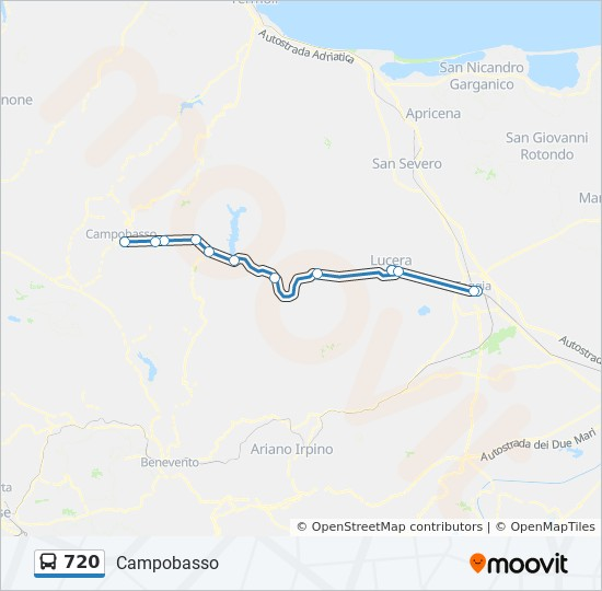 720 Route Time Schedules Stops Maps Campobasso