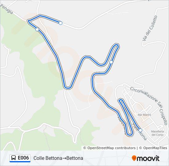 Linie E006 Fahrplane Haltestellen Karten Colle Bettona Bettona