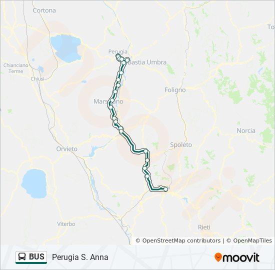 Linie Bus Fahrplane Haltestelle Karten Perugia S Anna