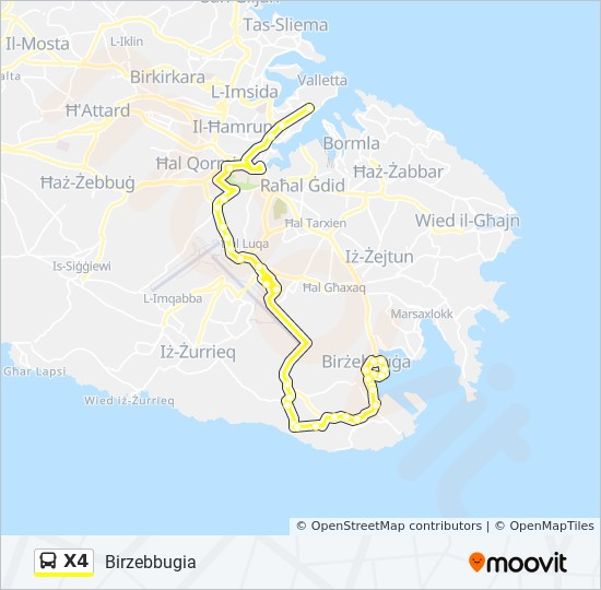 X4 Route: Time Schedules, Stops & Maps - Valletta on vatican city on map, slovenia on map, europe on map, monaco on map, estonia on map, luxembourg on map, cyprus on map, netherlands on map, san marino on map, alps on map, moldova on map, poland on map, rhodes on map, serbia on map, crete on map, macedonia on map, marshall islands on map, emma heming, jersey on map, san marino, andorra on map, gibraltar on map,