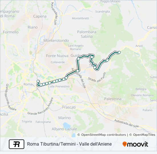 Mapa de R de tren