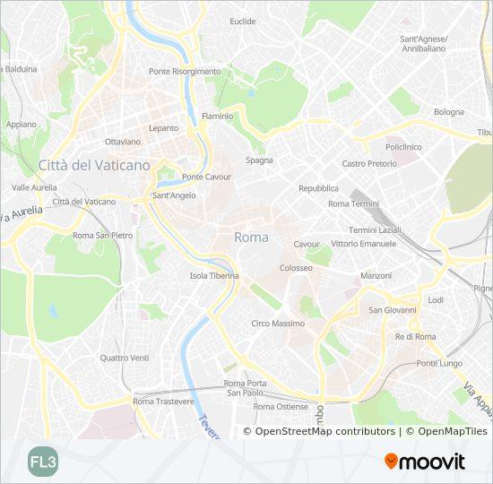 Fl3 Route Time Schedules Stops Maps Roma Monterotondo