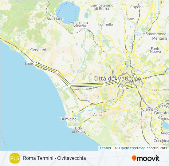 FL5 Route: Time Schedules, Stops & Maps - Civitavecchia on italian regions italy map, frascati italy map, matera italy map, acireale italy map, montichiari italy map, florence italy map, lavagna italy map, chivasso italy map, poggio italy map, castelsardo italy map, marseilles italy map, avignon italy map, munich italy map, sezze italy map, kotor italy map, locri italy map, codroipo italy map, ports of italy map, palau italy map, marotta italy map,