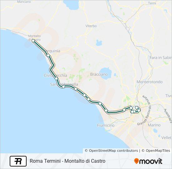 Cartina Roma Ciampino.Linea R Orari Fermate E Mappe Montalto Di Castro