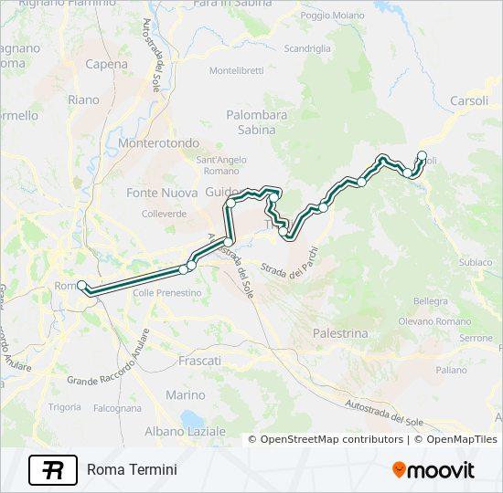 R train Line Map